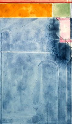Richard Diebenkorn / Large Light Blue, from the group Eight Color Etchings / 1980 / spit bite aquatint and soft-ground etching