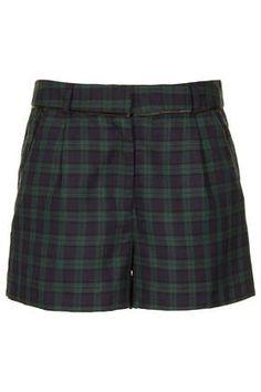 Green Blackwatch Check Shorts - Shorts  - Clothing