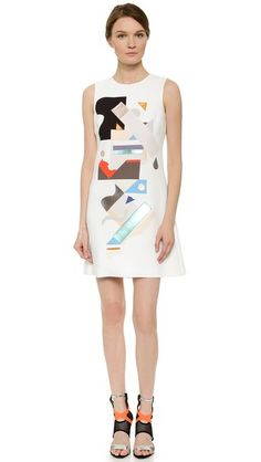 Victoria Victoria Beckham applique dress