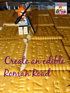 edible Roman Road to make with your kids.  My kids loved walking their Lego guys on the road when we were done