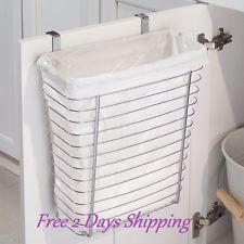 Over the Cabinet Door Waste Trash Can Bin Storage Pop Up Camper Basket Holder   $31.93