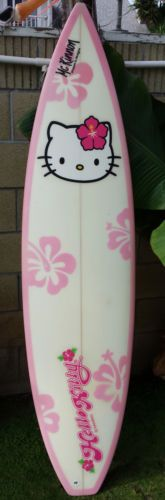 Hello Kitty surfboard. Well hello, kittehhh. Siesta Key, Jenny--if EVER there was a board designed for you, this is it. Lol