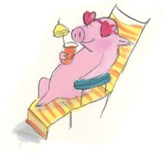 Sleeping piglets here is a fun clip of sleeping pigs, think they like amy winehouse. Doodle Drawings, Cute Drawings, Funny Animals, Cute Animals, Pig Illustration, Pig Art, This Little Piggy, Cute Pigs, Animals Of The World