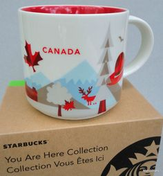 Coffee #Mug #Starbucks Cup #Canada You Are Here Collection 2015 New boxed 14 oz Red