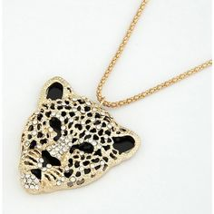 Indressme | Shining Diamond Tiger Head Delicate Necklace style dh111892 only $15.00 in Jewelry - Accessories.