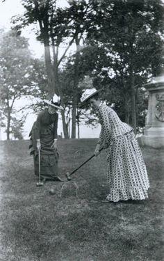 Croquet c. 1886  Ohio Historical Society
