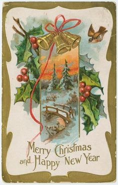 Image ID: 1586470 Mid-Manhattan Library / Picture Collection Merry Christmas and happy New Year. (190-) Bamforth & Co. -- Publisher
