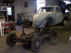 1960 VW Beetle Frame-Off Restoration at Lucky's Auto Body in Hellertown, PA Car Restoration, Vw Beetles, Monster Trucks, Frame, Vintage, Picture Frame, Vw Bugs, Vintage Comics, Frames