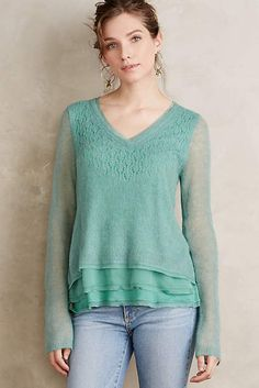 A new mint greenish top!?  Um why do I like the expensive things?!??