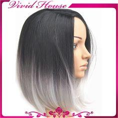 black silver hair ombre - Google Search