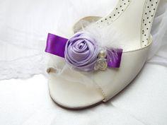 Purple shoe clip, Roses, Shoe roses hhttps://www.etsy.com/listing/240338875/shoe-clip-rose-shoe-clip-bridal?ref=listing-shop-header-3