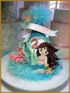 Mermaid Party Hat, Under the Sea Party Hat. X