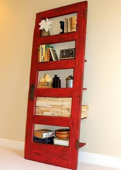 ways to reuse and recycle old wood doors for unique furniture and wall decorations in vintage style Repurposed Furniture, Unique Furniture, Furniture Making, Diy Furniture, Vintage Furniture, Old Wood Doors, Wooden Doors, Salvaged Wood Projects, Bookshelves