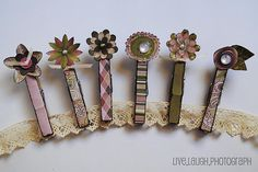 sweet magnets and idea to dress up clothes pins