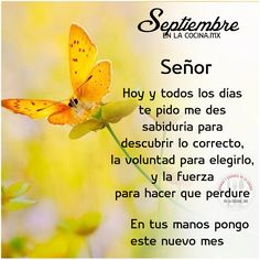 Bienvenido Septiembre Morning Love Quotes, Good Morning, Miss You Mom, Days And Months, Religious Books, God Loves You, Spanish Quotes, Gods Love, Me Quotes