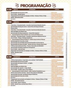 Programação – Festival do Chocolate