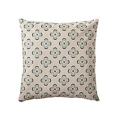Aqua Peridot Pillow Cover by Serena & Lily. Lovely design and the colour scheme is a personal favourite!