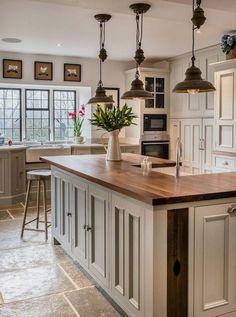 Farmhouse Kitchen Cabinets - CHECK THE PICTURE for Many Kitchen Cabinet Ideas. 24587546 #cabinets #kitchens