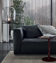 Sectional fabric sofa with removable cover SHANGAI @poliformvarenna