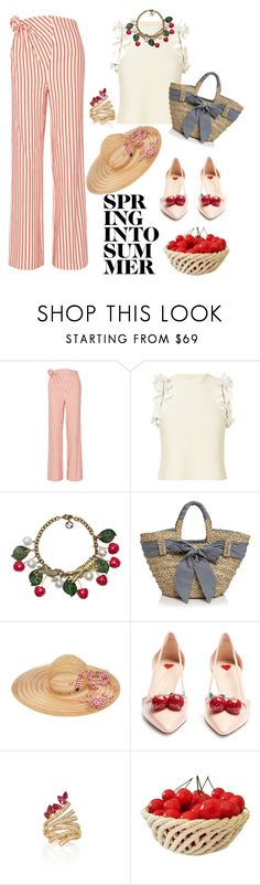 """""""Spring into summer"""" by gamosefashion on Polyvore featuring Rosie Assoulin, 3.1 Phillip Lim, Gucci, Filippo Catarzi, Maison Michel and Hueb"""