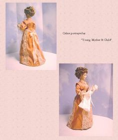miniature doll tutorial on draping dress to create a realistic look