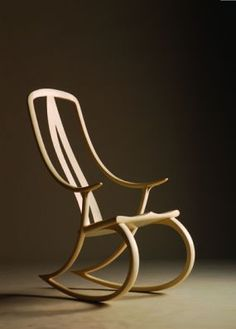 """This is the """"signature"""" rocker by David Haig. And I too wouldn't change a thing about this sublimely stylish rocker. Diy Furniture Plans, Custom Furniture, Cool Furniture, Furniture Design, Rocking Chair Plans, Shaker Furniture, Best Sofa, Miniature Furniture, Cool Chairs"""