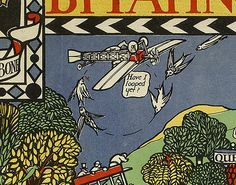 There's a pilot who really shouldn't be flying. | 9 Wonderful Details From A Hundred-Year-Old Map Of The London Underground