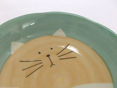 Japanese Dish Plate Minoyaki dinnerware Made in Japan Cat Green   | eBay