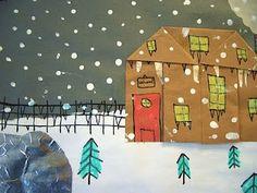 Grandma Moses kids art, collage & paint