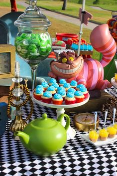 Decorations at a Alice in Wonderland party! See more party ideas at CatchMyParty.com!