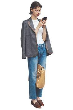 Denim Fashion, Fashion Pants, Love Fashion, Korean Fashion, Fashion Beauty, Girl Fashion, Fashion Outfits, Womens Fashion, Fashion Trends