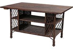 Antique American Wicker Desk  one king's lane