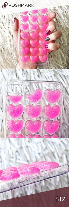 NEW iPhone 7/8 Plus SOFT TPU 3D Pink Glitter Case ▪️Fits iPhone 7 or 8 Plus Models     ▪️High Quality Soft TPU - Thick & Shock-Resistant     ▪️Same or Next Business Day Shipping ! Accessories Phone Cases