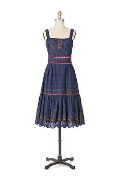 moon river dress #anthropologie
