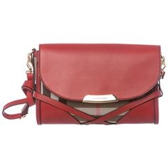 84a6077c9ea Burberry  Abbott  Red  Check Sartorial Leather Crossbody Bag - product -  Product Review