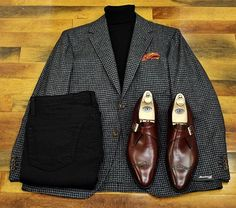 Shoes and jacket! Maybe turtle neck. Killing the game