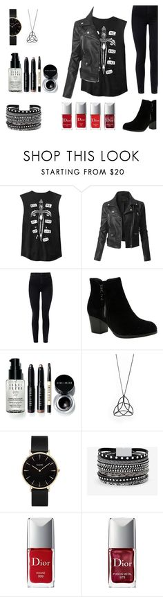 """""""Go For It: 3"""" by sarcasticllama ❤ liked on Polyvore featuring LE3NO, J Brand, Skechers, Bobbi Brown Cosmetics, CLUSE, White House Black Market, Couture Colour and Christian Dior"""