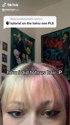 Hair Tips Video, Hair Videos, Kawaii Hairstyles, Pretty Hairstyles, Shot Hair Styles, Curly Hair Styles, Hair Reference, Anime Hair, Dye My Hair