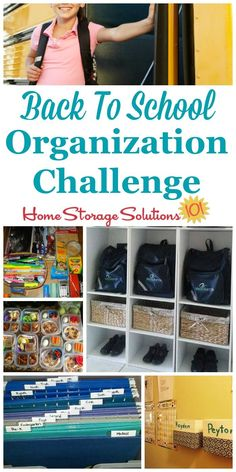 Step by step instructions for back to school organization, including creating a morning launch pad, creating a homework area for kids, and organizing school papers {part of the 52 Week Organized Home Challenge on Home Storage Solutions 101}  #BackToSchool #BackToSchoolOrganization #OrganizedHome School Paper Organization, Home Organization Hacks, Organizing School, Organizing Tips, Homework Organization, Backpack Organization, Organising, Homework Area, Home Storage Solutions