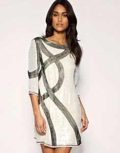 Lovely beaded dress !