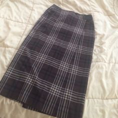 Long plaid brown pencil skirt Gorgeous and classy Skirts Pencil