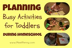 Long list of ways to keep your younger children busy while you #homeschool the older children. You probably have most of these items in your home already! Also has recommendations for educational toys to keep the toddlers distracted and tips for rotating what you make available to the children. Homeschooling multiple ages never looked so easy.