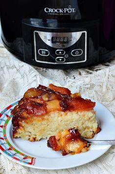 Tort de mere de post, la slow cooker - CAIETUL CU RETETE Slow, Crockpot, French Toast, Breakfast, Desserts, Recipes, Cakes, Pintura, Morning Coffee