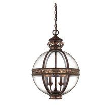 View the Savoy House 7-1481-4 Strasbourg Four Light Pendant with Clear Shade at Savoy House at LightingDirect.