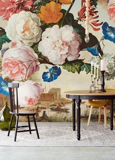 Masterpiece, by Eijffinger. This beautiful floral wallpaper mural takes you into the intriguing world of old masters and exquisite details. Available through Guthrie Bowron stores in New Zealand.