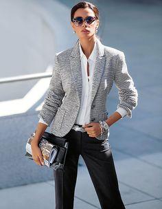 Jerseyblazer mit Streifen   MADELEINE Mode