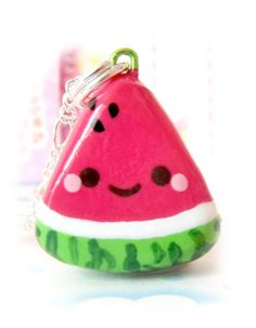 6. Kawaii watermelon slice necklace! I think that this is really adorable @Rockin' Green #lets rock