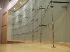 hanging glass shelves
