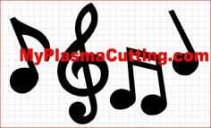 Musical Notes dxf format CNC cutting file