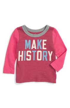 Peek 'Make History' Long Sleeve Graphic Tee (Baby Girls) available at #Nordstrom
